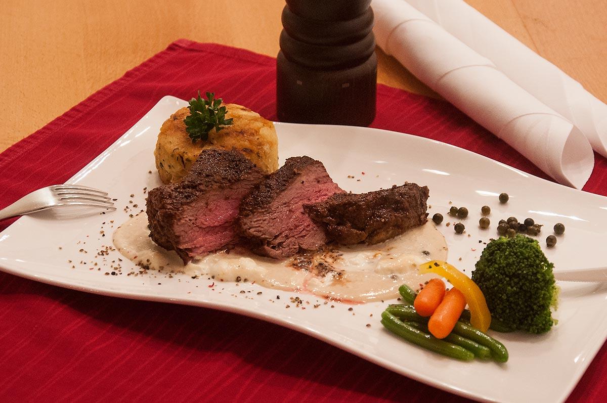 Steaks im Gasthof Sonne